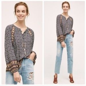 Anthropologie Peasant Blouse Tylho M